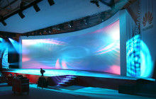 Huawei stage backdrop banners media