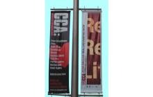 lamp post banner advertising media